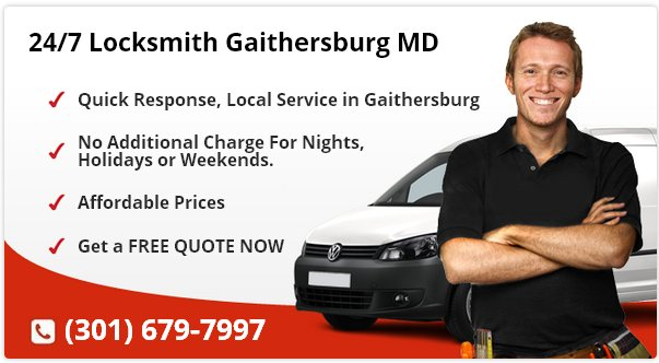 24 Hour Locksmith Gaithersburg MD